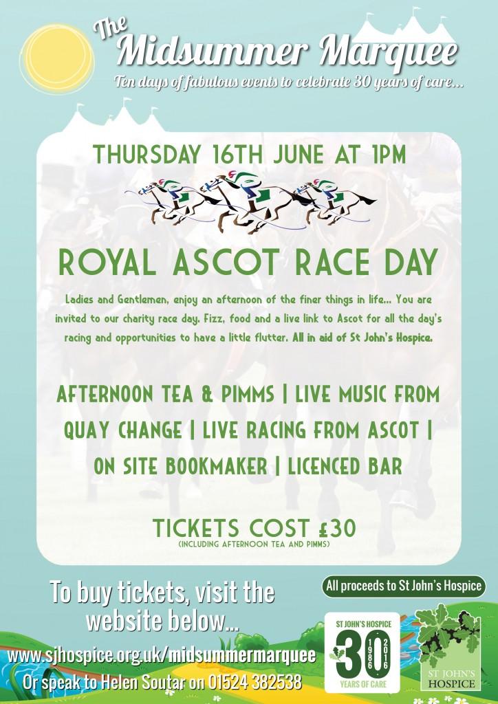 royal ascot race day poster  lancaster district magazine