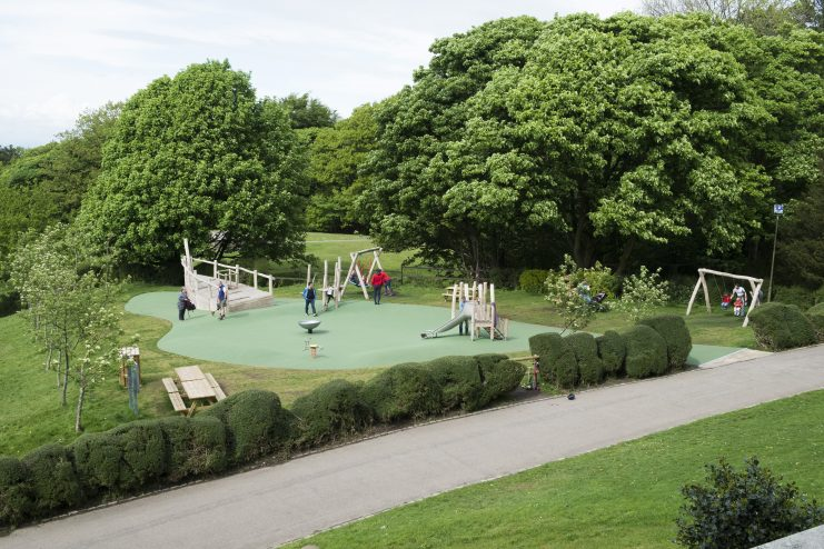 One of the new playgrounds at Williamson Park
