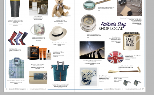 SHOP LOCAL with our gift guides featuring products from local shops.